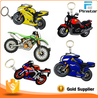 Cheap Promotion Custom Motorcycle Soft PVC Rubber Keychain
