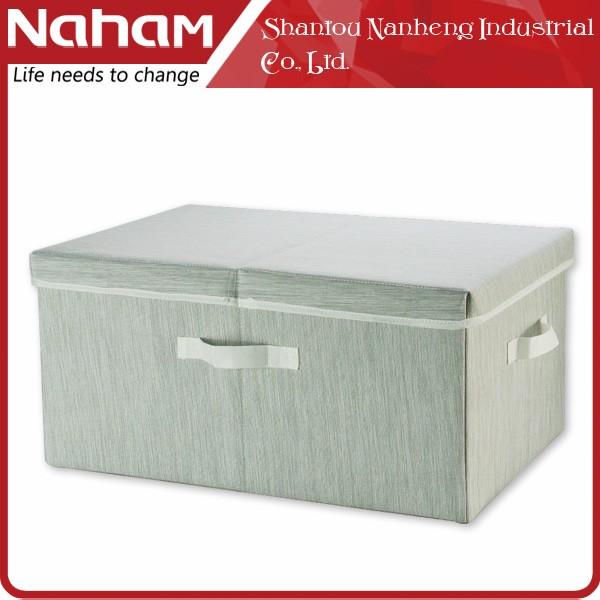 nahams gro e kapazit t falten stoff faltbare aufbewahrungsbox mit deckel speicherkasten und. Black Bedroom Furniture Sets. Home Design Ideas