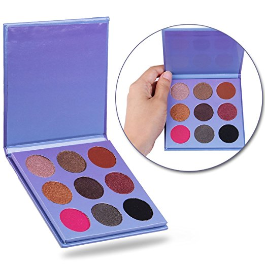 New waterproof Feature and <strong>Eye</strong> Use private label neutral 9 colors eyeshadow palette