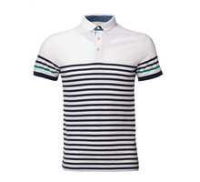 Custom Design Your Own Mens Striped Sport Blank Polo Golf Shirt 100% Cotton Wholesale