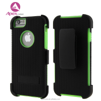 360-Degree All-round Protective Hybrid 2 in 1 Hard Armor Phone Case With Belt Swivel Clip For Samsung/iphone6/6S