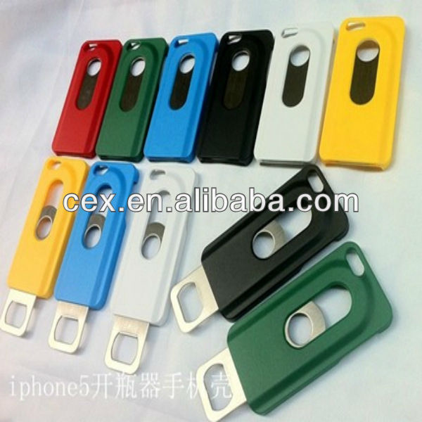 New Creative Beer Bottle Opener Slide In/Out Phone Shell PC Hard Case Cover For iPhone 4 4s
