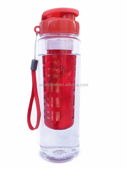 Fruit infusion infuser water bottle 24oz flip top cheap tritan