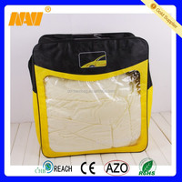 High quality PVC and non-woven blanket packaging bag with rope handle