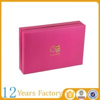 wholesale custom design cheap hair extension packaging box