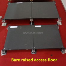 OA raised floor system with engineered flooring