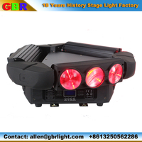 Stage light factory from china supply 9x12W full color led spider moving head light/led beam moving head light