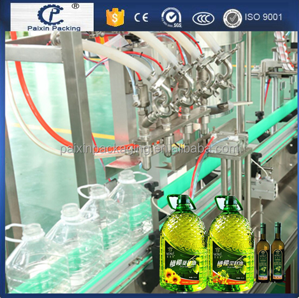 CE standard soybean oil automatic filling machine PE bottle, glass bottle