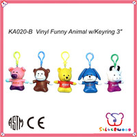 Familiar in oem odm factory hot selling soft animal shaped plush little animals keychain toys