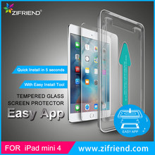 Easy Install 9H Hardness Tempered Glass Screen Protector for iPad mini 4