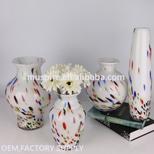Top quality import grade glass flower vase with foot