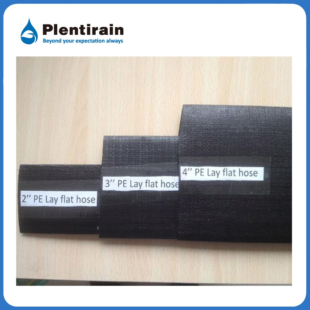 3 inch or 4 inch black PE lay flat hose