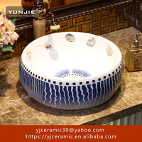 ceramic commercial vessel bathroom sink