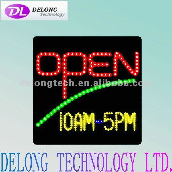 CE and RoHS electronic 40X40cm semi-outdoor Germany flashing led message open board