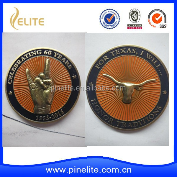 Promotional Gifts Old Gold custom challenge coin souvenir coin
