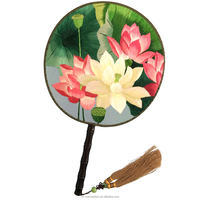 Handmade Silk Fan with Double-side Silk Embroidery
