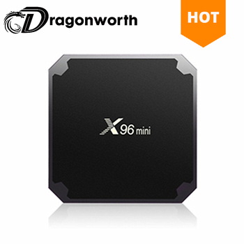 Hot Selling X96 Mini Amlogic S905W 1gb 8gb tv box x96 4k full hd quad core smart tv box for internet tv box