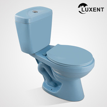 Factory Price Ceramic Hotel Bathroom Blue Sanitary Ware 2 Piece Toilet