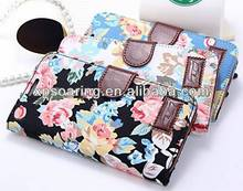 Stand Flower leather case pouch for Samsung galaxy Note 2 N7100