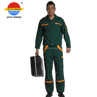 Green Protective Workwear Uniform Dungaree 2 Piece Work Suits