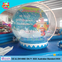 Factory Price Giant Inflatable Christmas snow globe