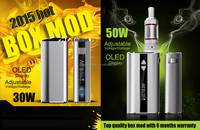 2015 top quality e cigarette 510 battery mod vape with vapebox 50w battery wholesale