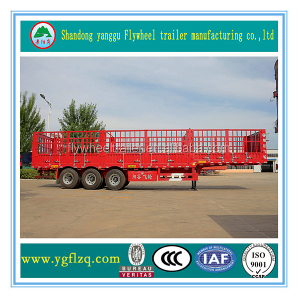 3 axle Poultry animal transport animals fence semi truck trailer