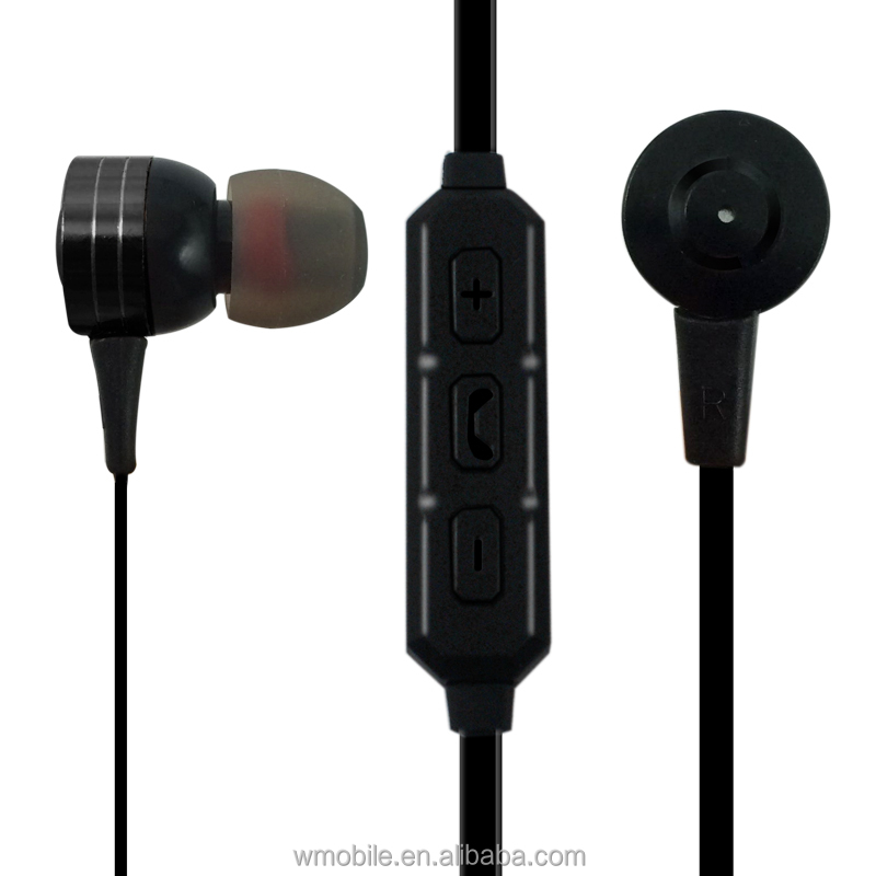 Noise canceling sports wireless head phones with microphone magnetic earphones