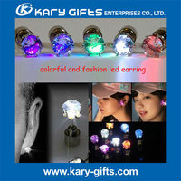 unisex glowing ear stud novelty gifts led earring lighting decor