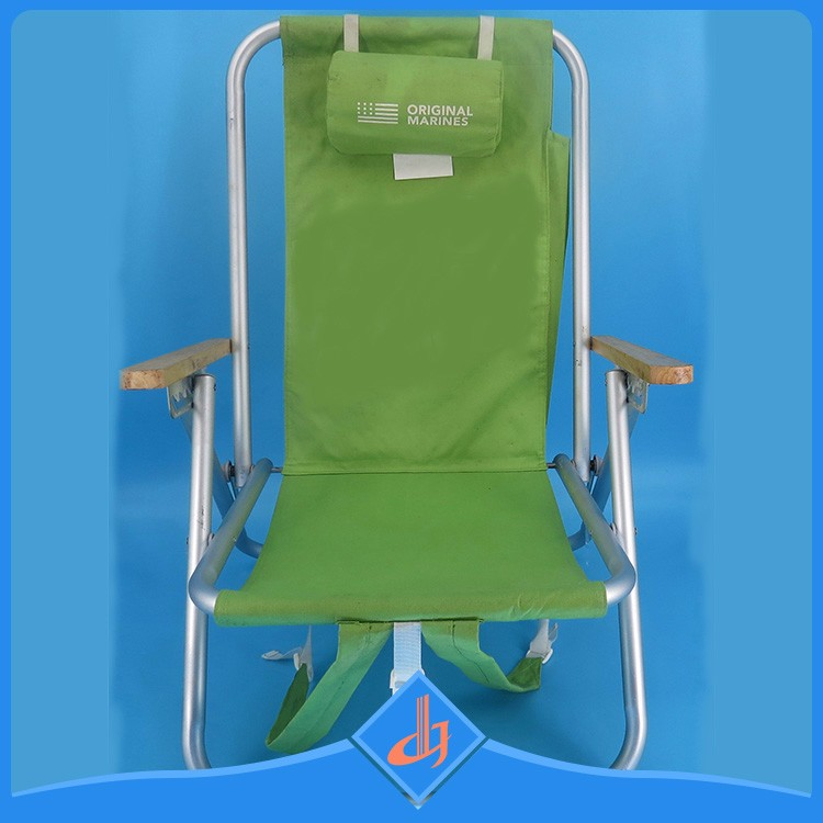 Wood Armrest Beach Chair Dimension Specification