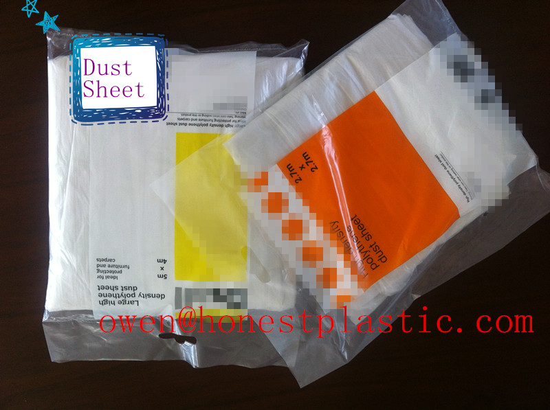 wholesale price pe drop cloth dust sheet