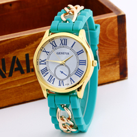 business man fashion new arrival Roman numerals Hot wellington alloy silicone strap watch
