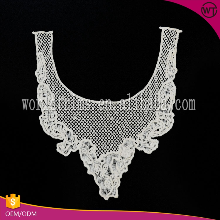 New design ecru blouse accessories collar lace cotton churidar neck design