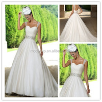 Sexy off-shoulder ruched empire wedding dresses 2014/suzhou wedding dress