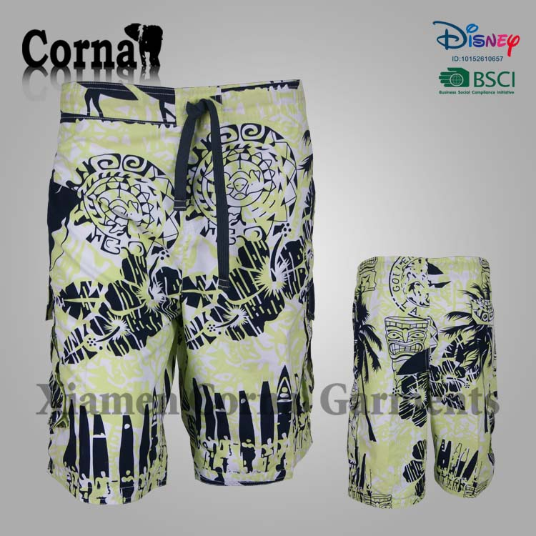 2017 Custom made recycled polyester board shorts swimwear for mature men