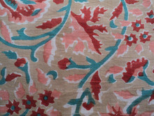 Beautiful Flower and Leafs Floral Designer Sanganeri Hand Block Printed 100% Organic cotton fabric from Jaipur Wholesale