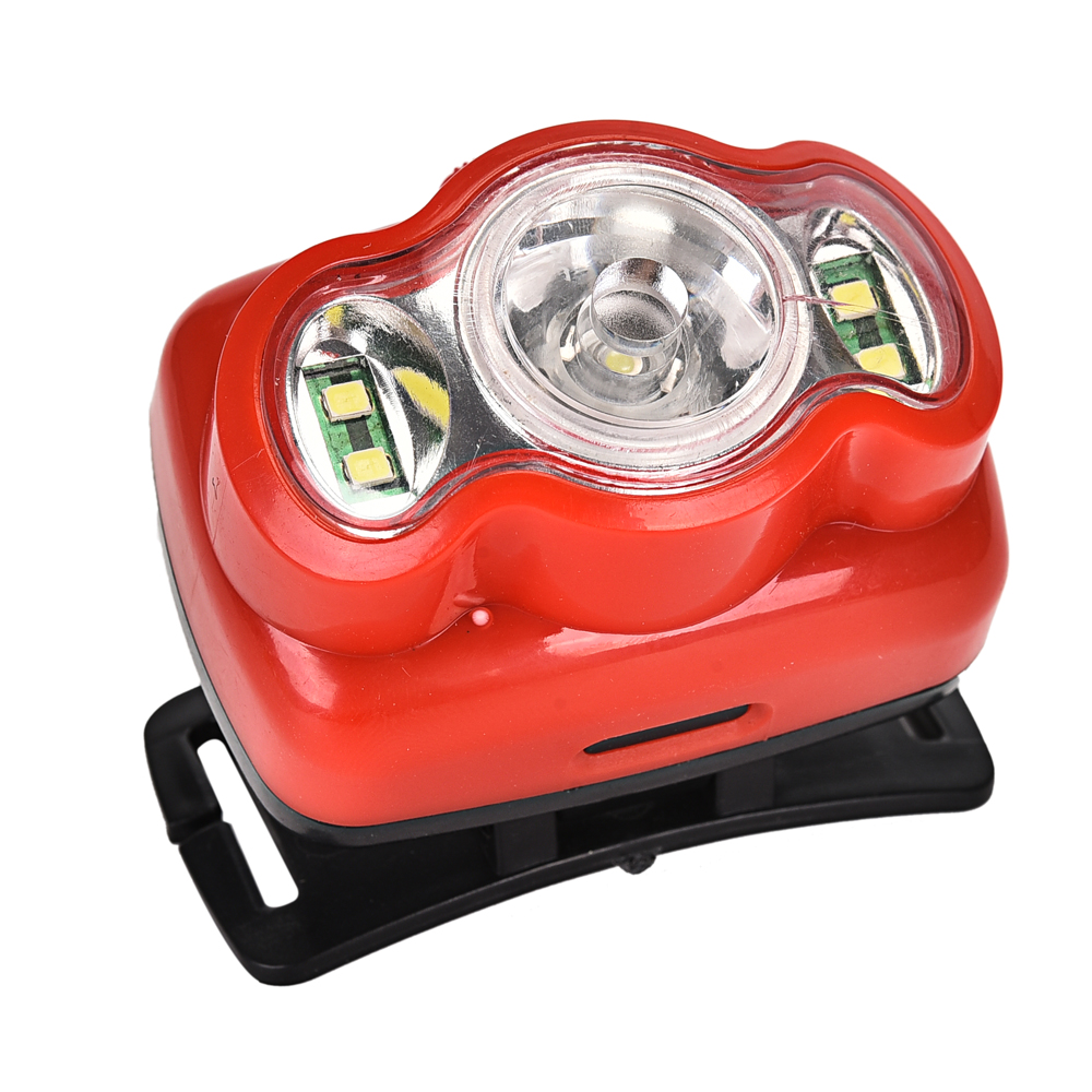 lamp beads 4 + 1W (lenticular lens) headlights using three section 7 # batteries second gear switch button sw Led Headlights