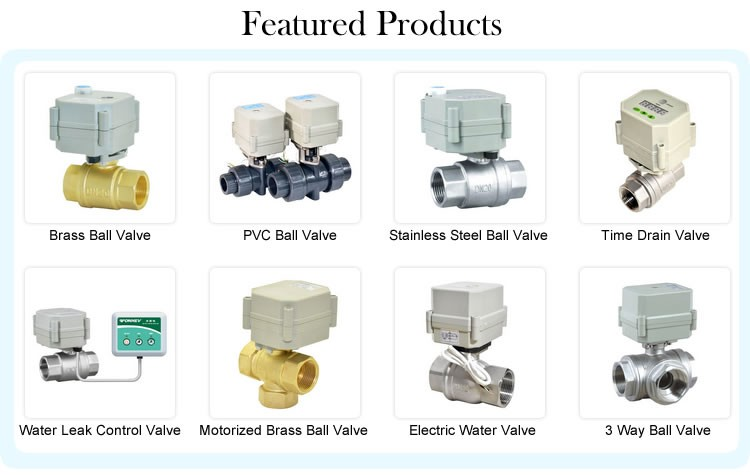 horizontal 3-way motorized stainless L type electric motorized ball valve