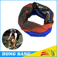 100% polyester multifunctional sports seamless tube scarf