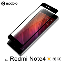 Mocolo Wholesale Full Cover 9H Hardness Explosion Proof Anti-Scratch Tempered Glass Screen Protector For Xiaomi Redmi Note 4