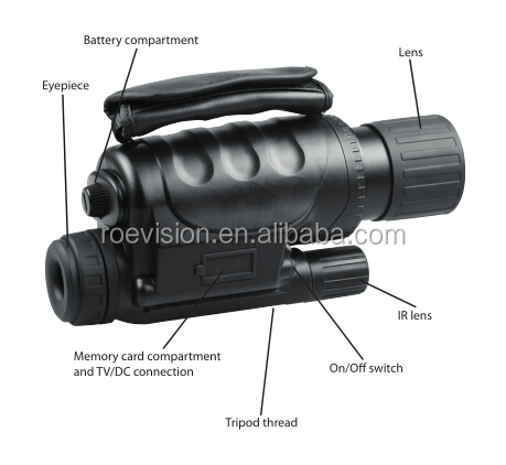 digital night vision, monocular, digital camera with video,photo recording function, day night vision camera