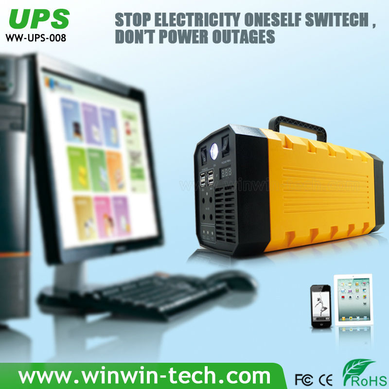 Portable 5 in 1 multifunction 1a dc mini ups