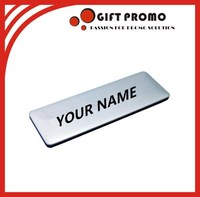 Promotional Personalized Meatl Name Badge