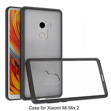 acrylic phone cover for xiaomi mix 2 transparent phone cace for mi mix 2