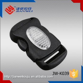 POM Plastic Material and Buckle Type plastic reflective insert buckle JW-K039