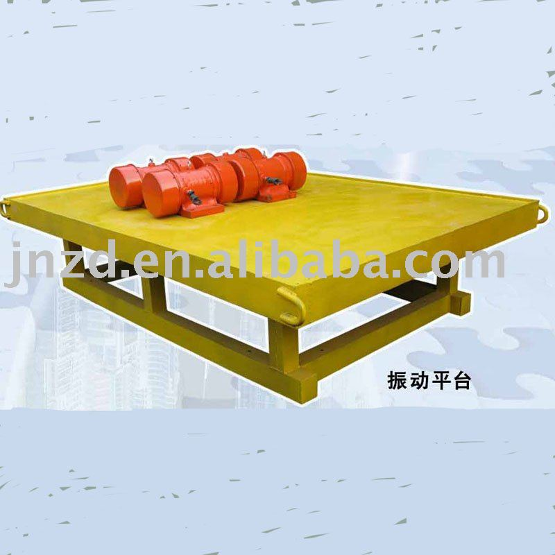 Vibrating Platform For Construction Material