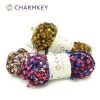 Charmkey 100 polyester dope dyed yarn substantial polyester twisted yarn for fashion women accessories