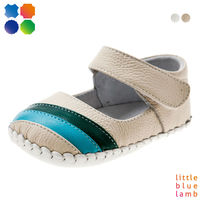 Lovely girls' soft leather baby shoes in rainbow pattern BB-A3201-CM