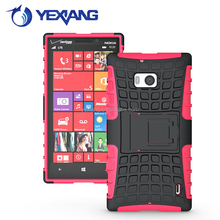 2017 rugged armor case for Nokia lumia 929 case back cover hybrid combo case