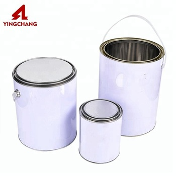 Round small medium large sealing type coating tin can for paint glue
